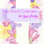 free March calendar