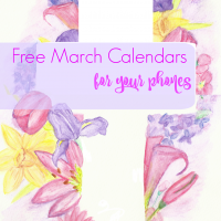 Free March Watercolor Calendar