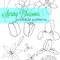 Spring Blossoms Printable Patterns
