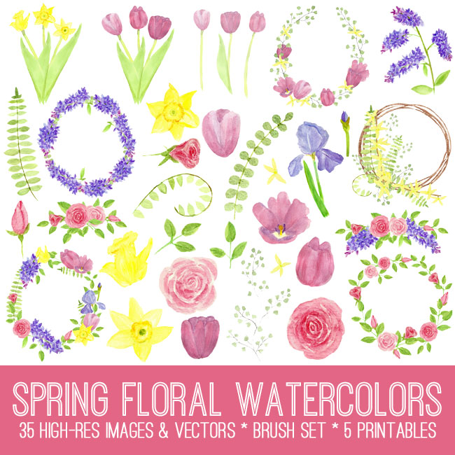 Spring Watercolor Flowers . . . and other smells.