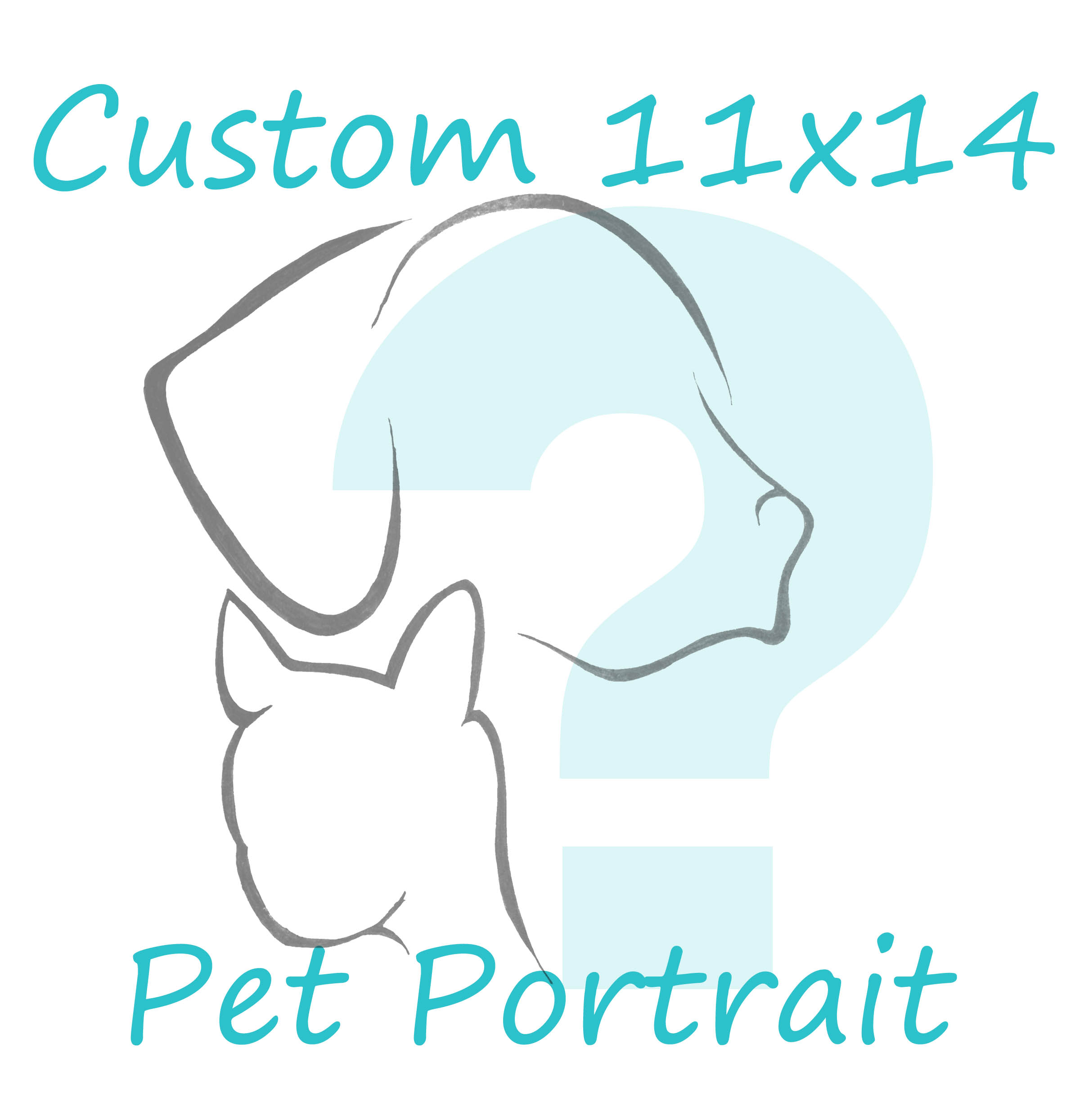 custom 11x14 pet portrait
