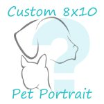 custom 8x10 pet portrait