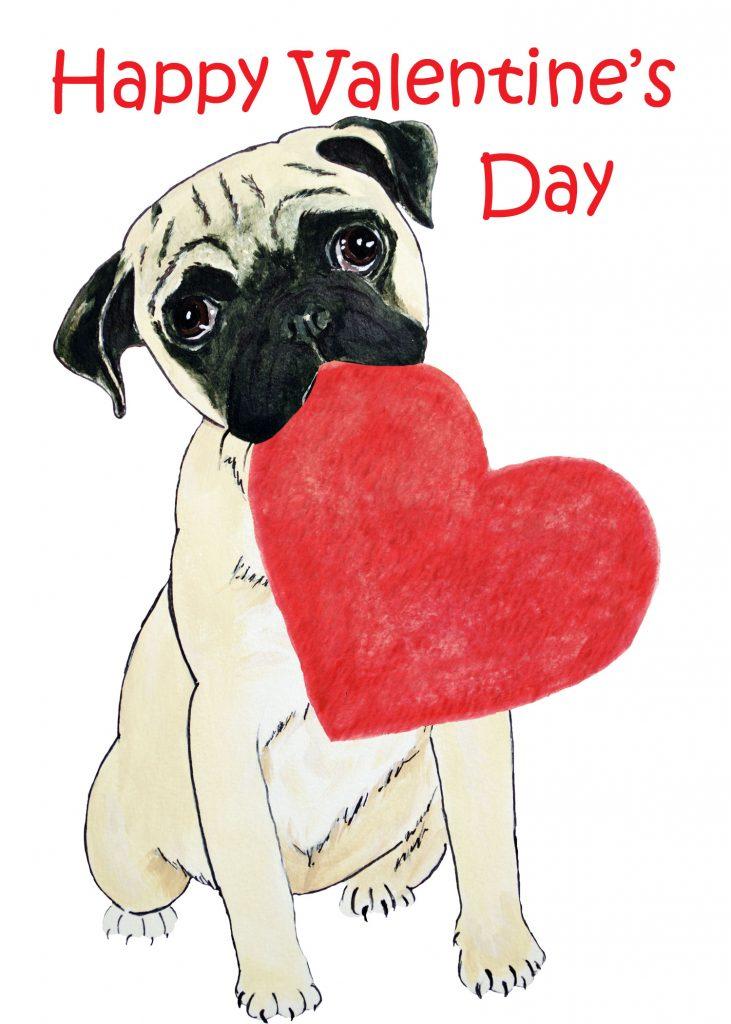 Pug-Valentine
