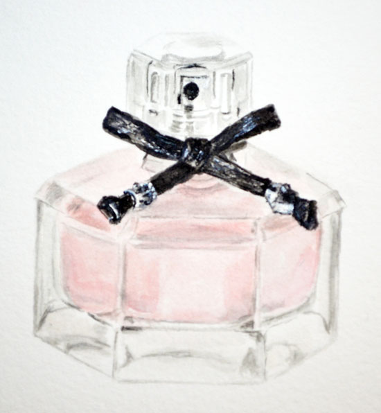 Watercolor Perfume Bottle