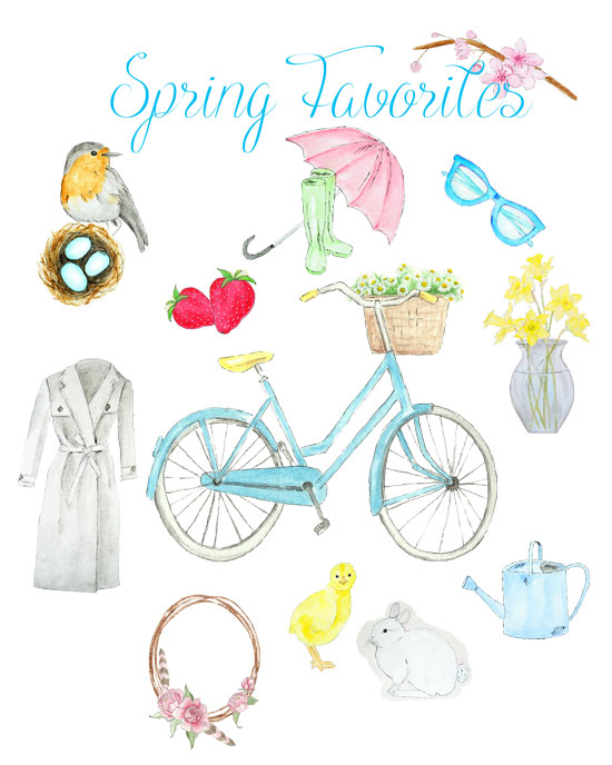 Spring Favorites Printable - FREE!