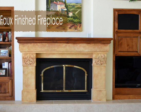 How to Refinish a Fireplace