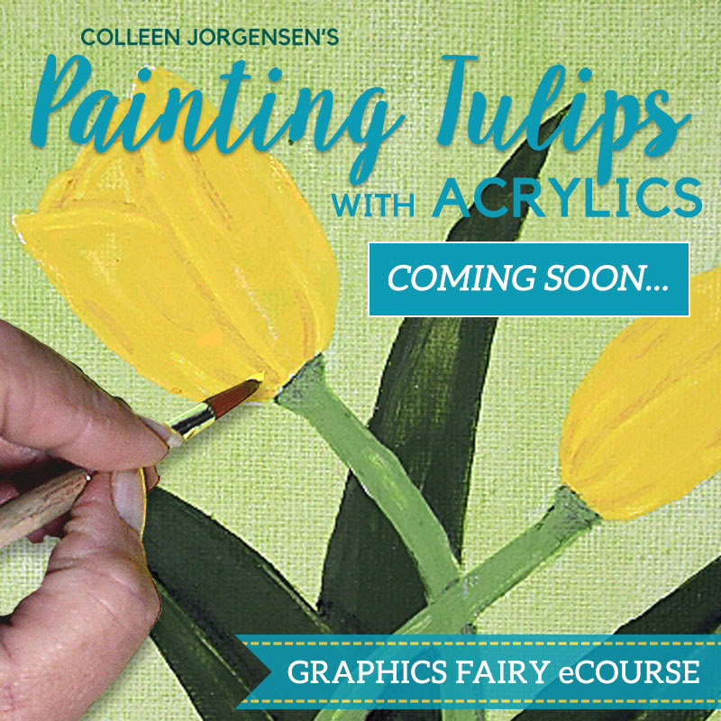 how to paint tulips course