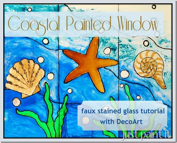 Coastal Painted Window