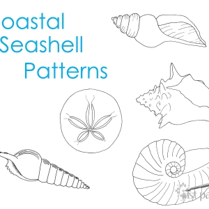 Coastal Seashell Pattern Printables