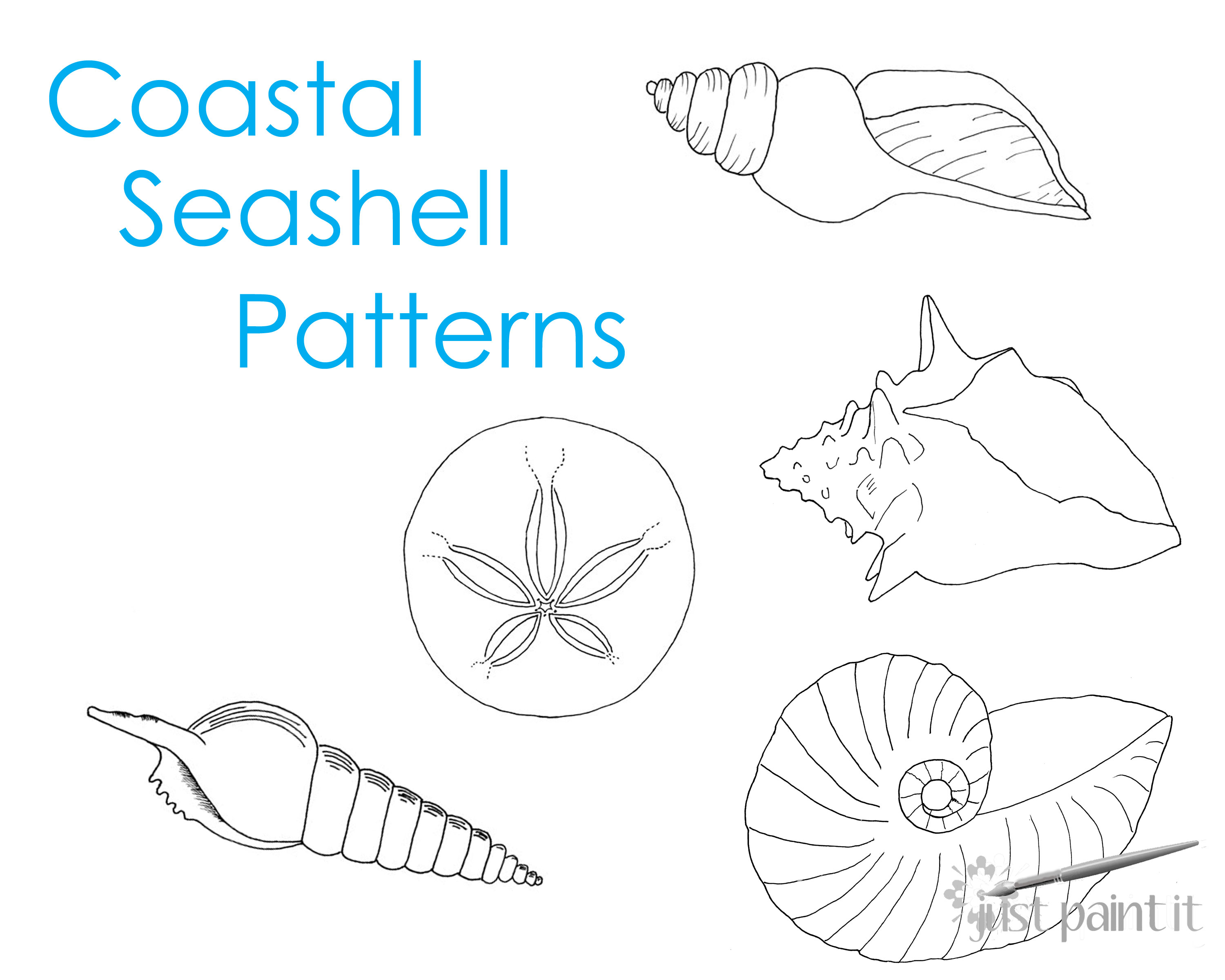 Coastal Seashell Pattern Printables