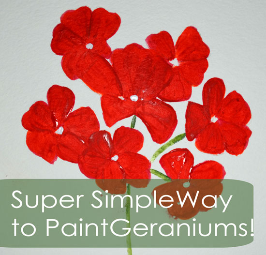 How to Paint Geraniums in Two Steps!