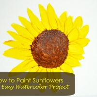 How to Paint Sunflowers - Easy Watercolor Project