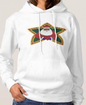 African American Santa Hoody