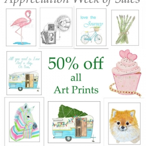 Art Prints on Sale - Day 2 Appreciation Week of Sales