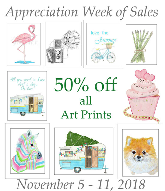 Art Prints on Sale - Day 2 Appreciation Week of Sales