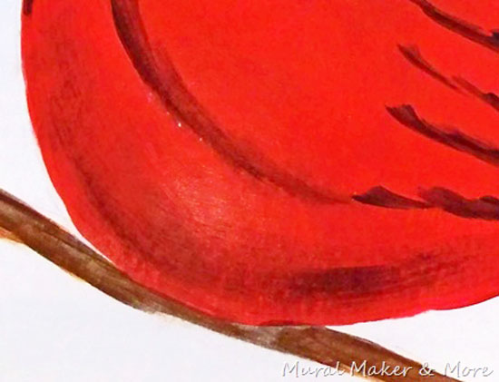 How to Paint a Red Cardinal - Just Paint It Blog