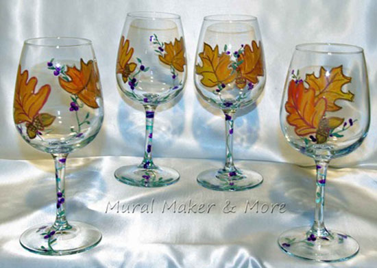 handpainted-wineglass-fall-leaves