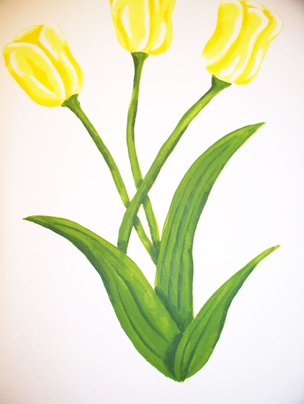 how-to-paint-tulips