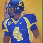 Cal Football Player Painting