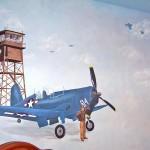 Corsair Plane Mural
