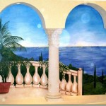 Mediterranean Mural on Canvas