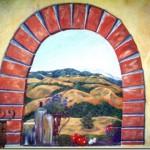 Tuscan Landscape Mural