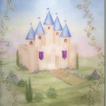 Princess Castle Painting on Hanging Canvas