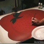 How To Paint a Strawberry Floorcloth