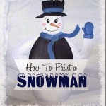 how to paint snowman