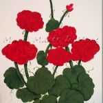 How to Paint Red Geraniums