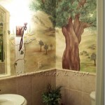 Powder Room Mural