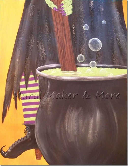 Paint An Easy Halloween Witch Just Paint It Blog