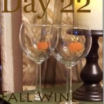 Painted Fall Wine Goblets