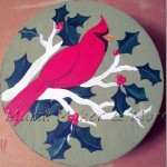 Painted Red Cardinal Gift Box