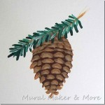 How To Paint a Pinecone