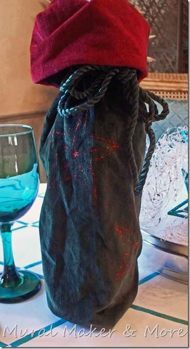 Last Minute Gifts 1 Embossed Velvet Wine Bag Just