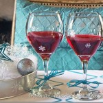 Stenciled Wine Goblets