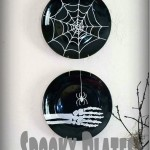Dollar Store Spooky Plates