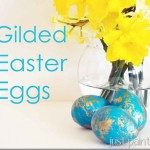 Faux Gilded Easter Eggs