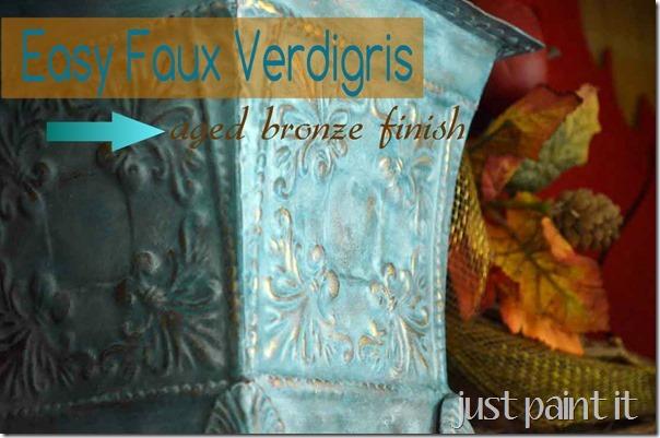 Easy Faux Verdigris Just Paint It Blog