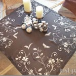 Halloween Painted Table Topper