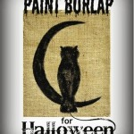 Paint Burlap for Halloween