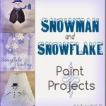 Paint Snowman Snowflake