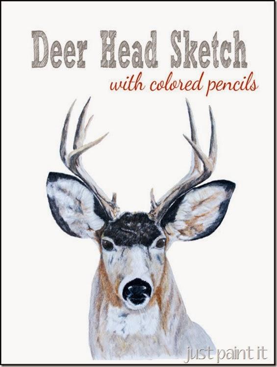 Faux Deer Head Christmas