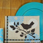 Stenciled Burlap Canvas Art