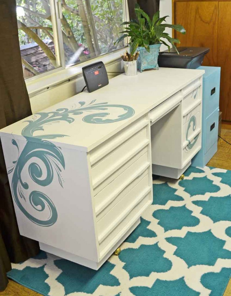 Painted Desk With Chalk Paint Just
