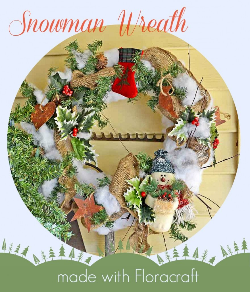 Snowman-Floracraft-Wreath