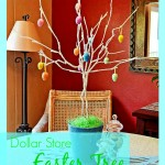 dollar store easter tree