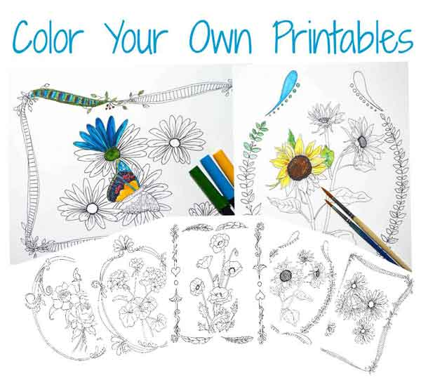 color-your-own-printables
