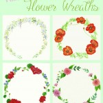 watercolor flower wreaths